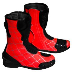 Spiderman Motorcycle Racing Boots Right View